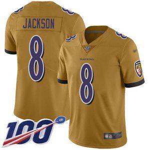 Baltimore Ravens Lamar Jackson 100th Season Jersey